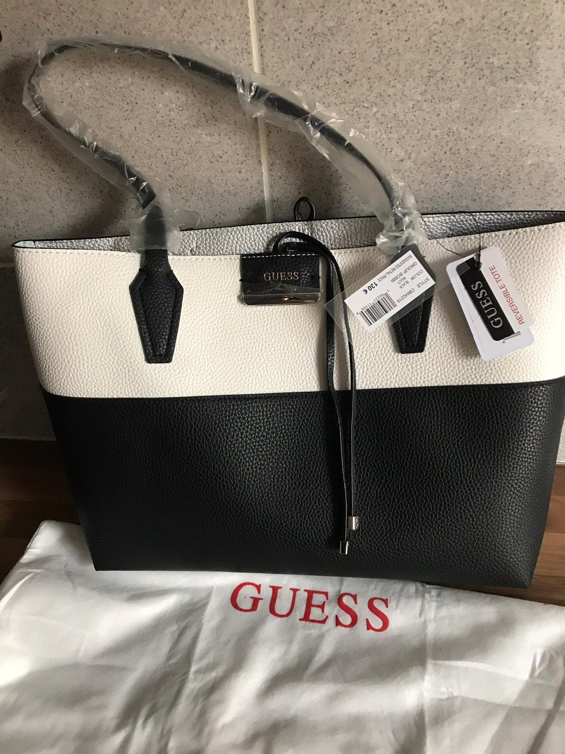 Guess leather reversible bag