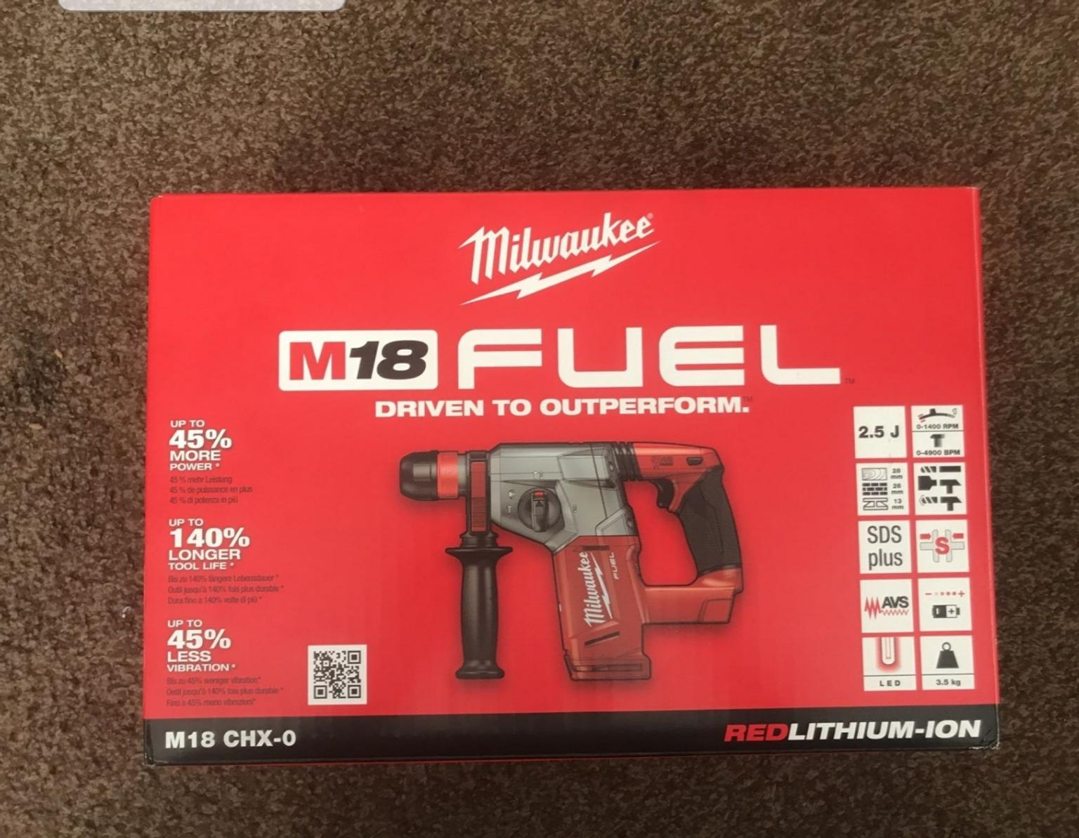 Milwaukee M18 SDS drill boxed as new