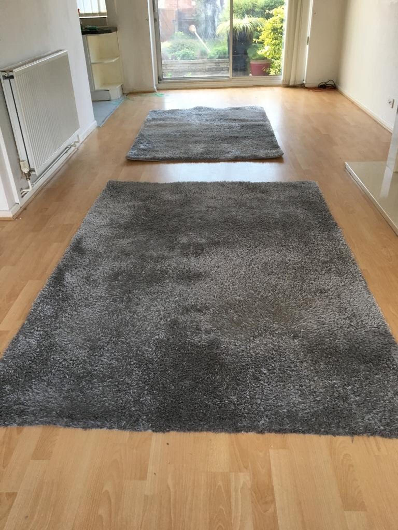2x JYSK Grey Birk Rugs in Coventry for