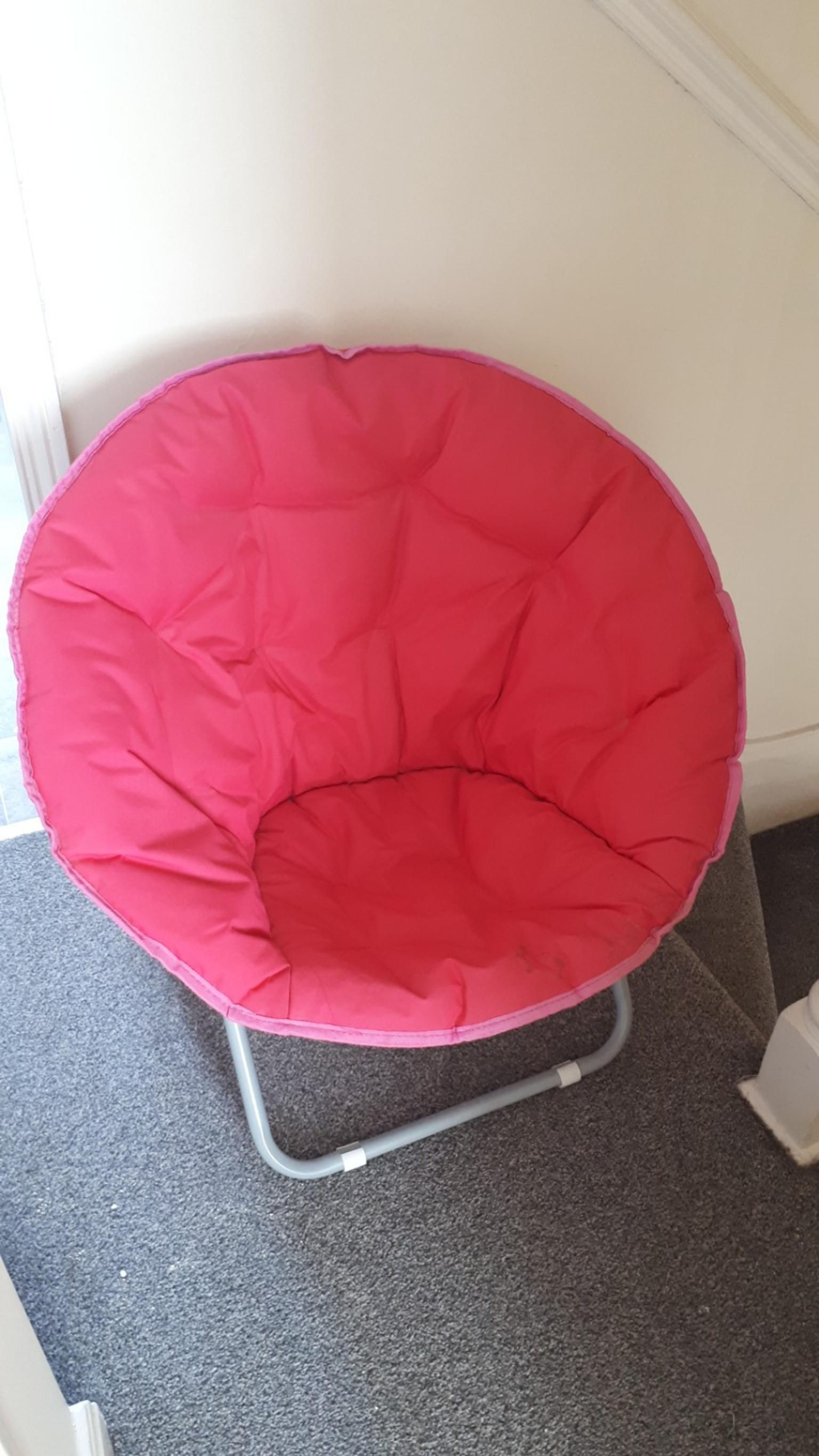 collapsible egg chair pink retro camping