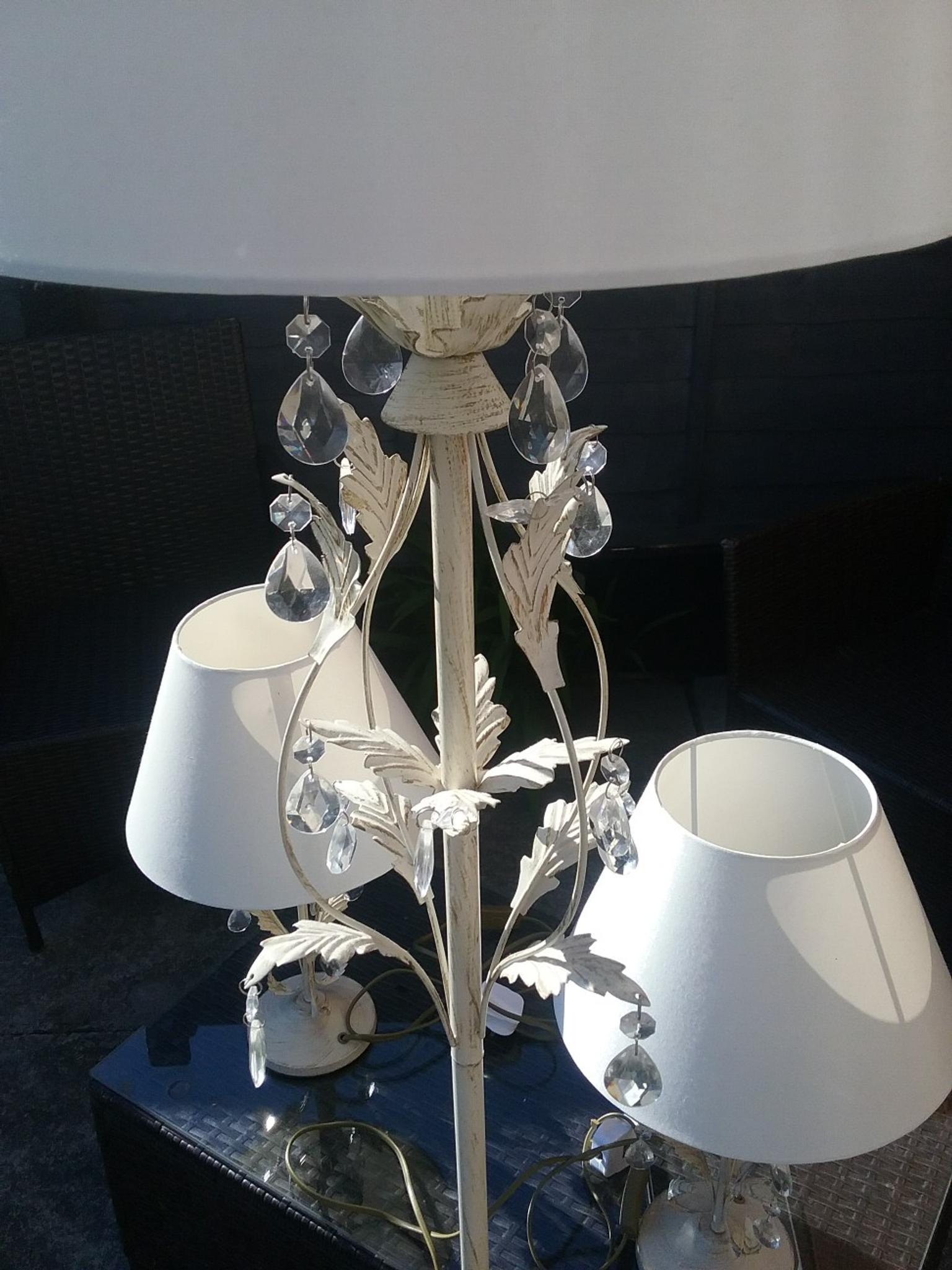 Dunelm floor lamp with matching lamps