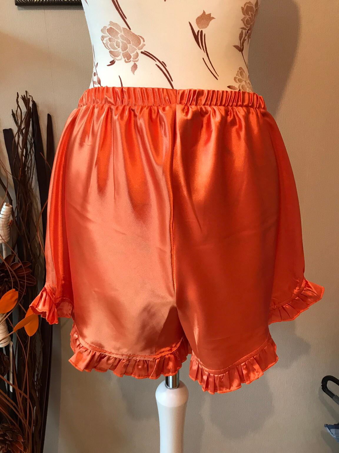 hot sale online bf833 1d4df NEU Nachthemd damen orange Schlafanzug seide