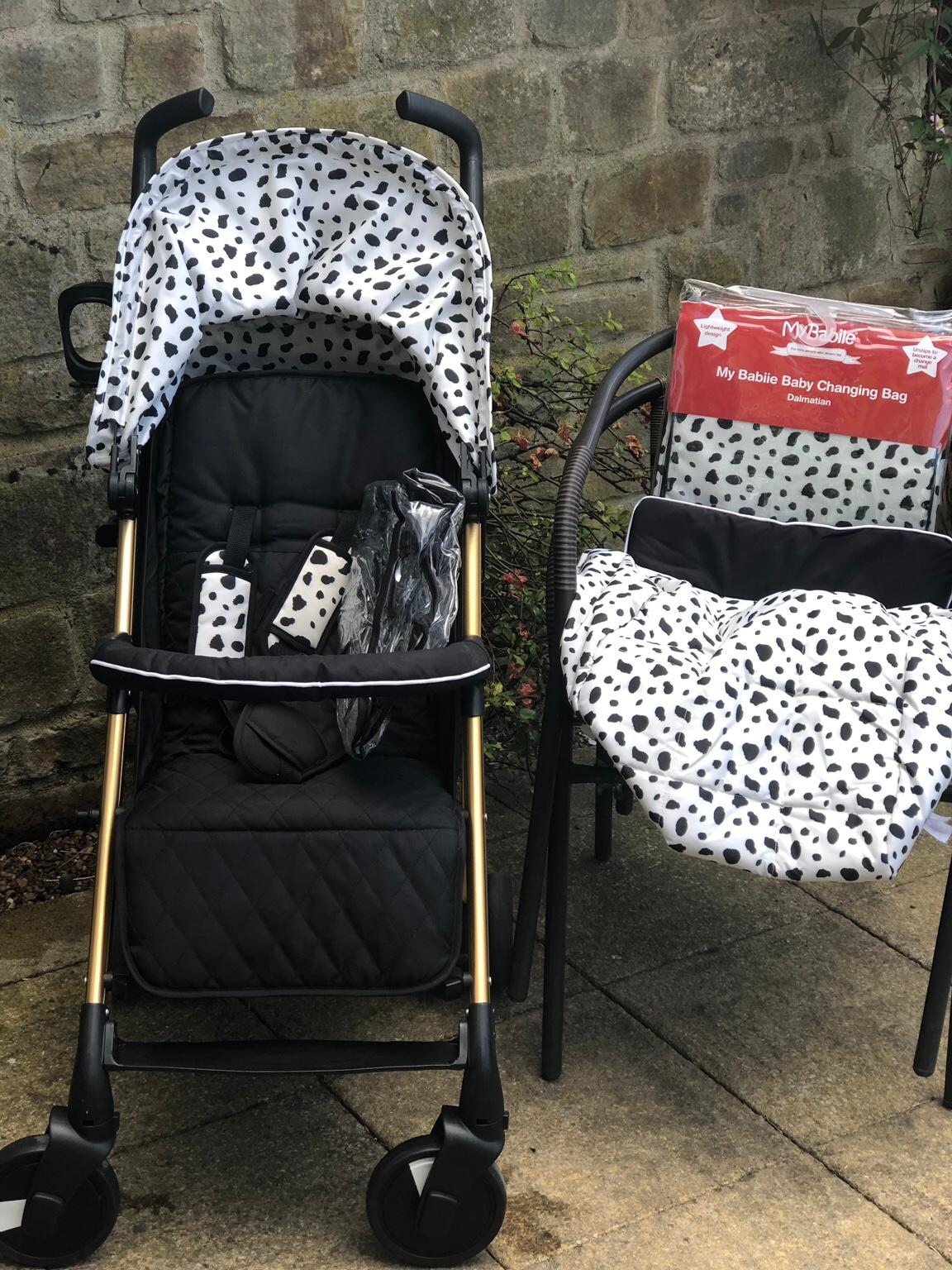 My Babiie Catwalk Collection By Abbey Clancy MB51 Stroller Pushchair Dalmatian