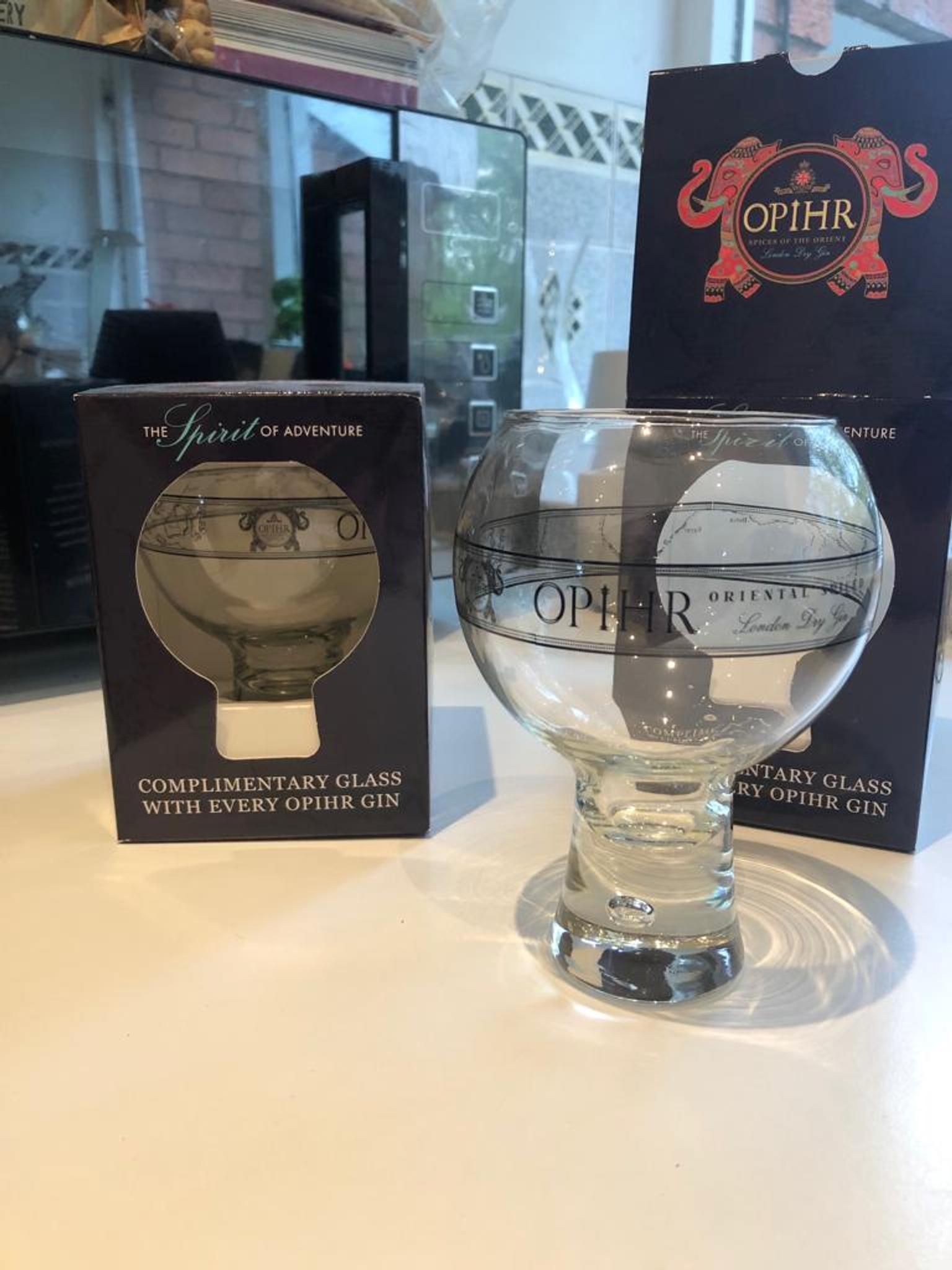 Pair of Opihr Gin Glasses Brand new with boxes