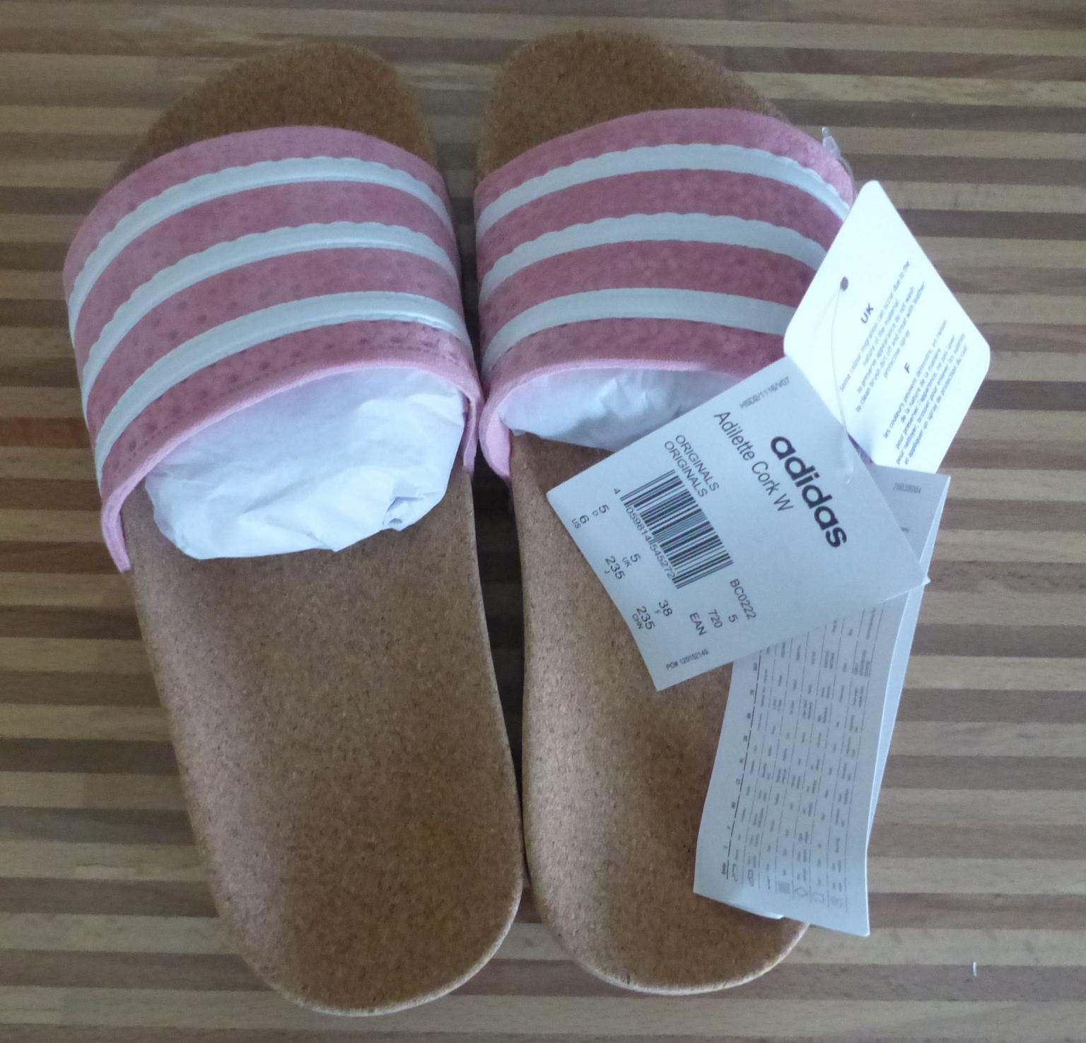 factory authentic cheapest price catch ADIDAS ADILETTE CORK W GR. 38
