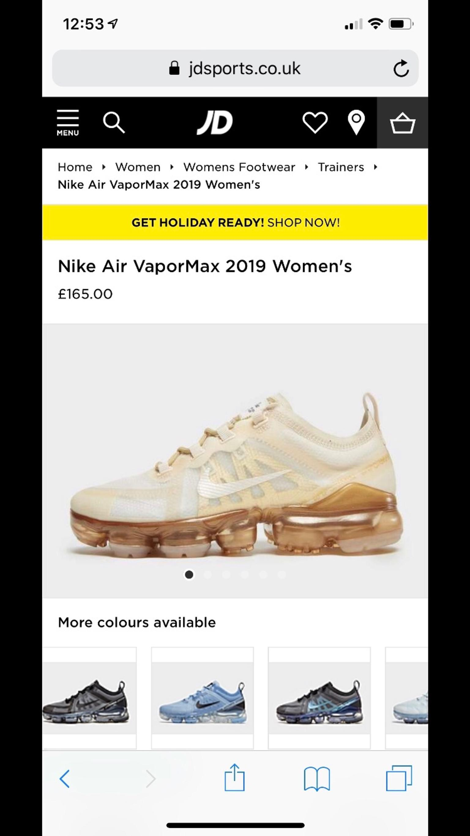 classic fit a8aaf be6ba New genuine Nike Air Vapormax 2019 Trainers