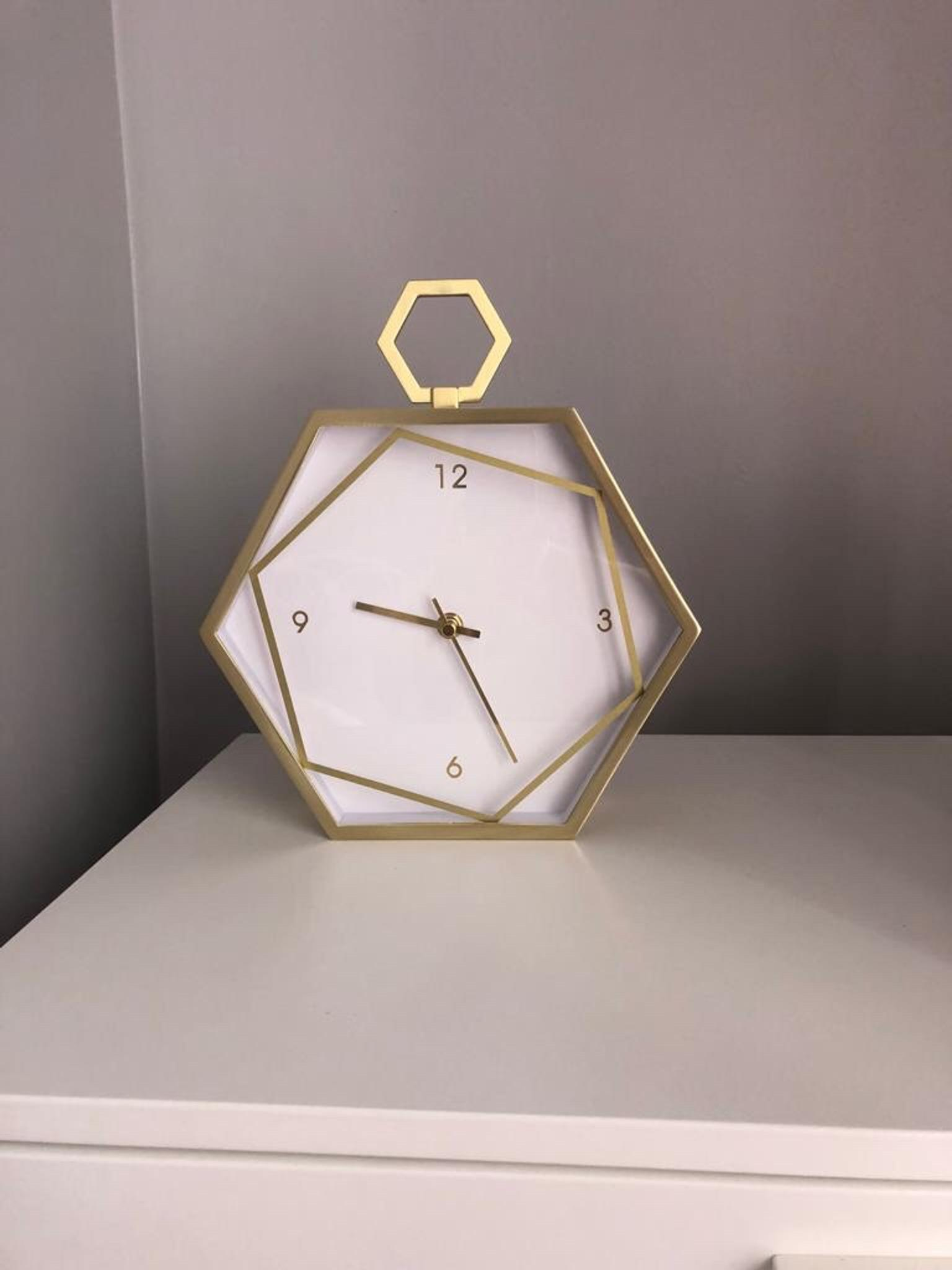 Next Gold Hexagon Clock In Wf1 Wakefield For 163 15 00 For