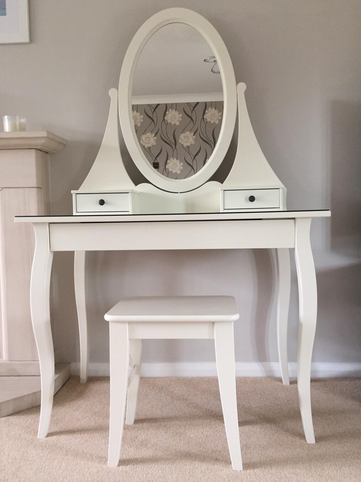 Dressing Table With Mirror And Stool: Hemnes IKEA Dressing Table Mirror & Stool In HD4 Kirklees