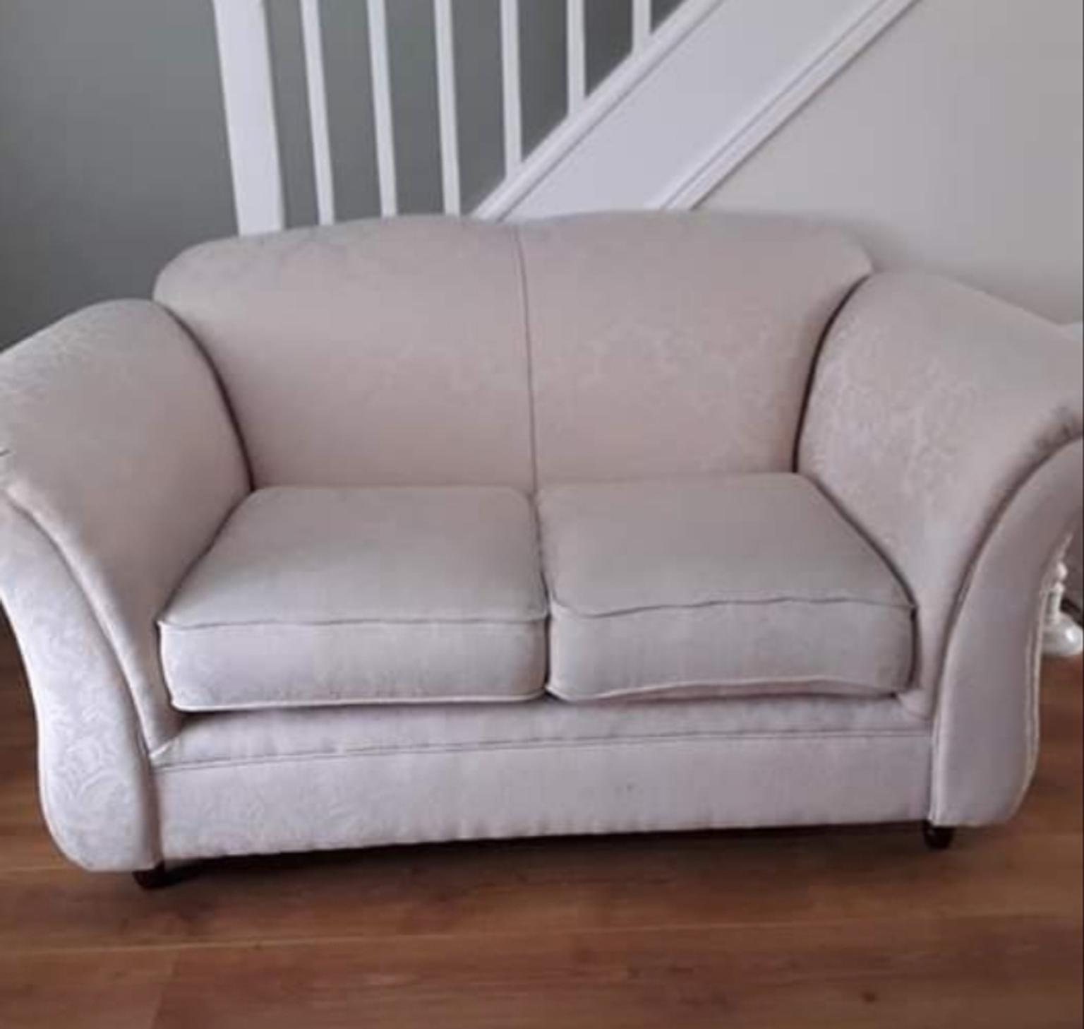 Swell Cream Fabric 2 Seater Sofa Onthecornerstone Fun Painted Chair Ideas Images Onthecornerstoneorg