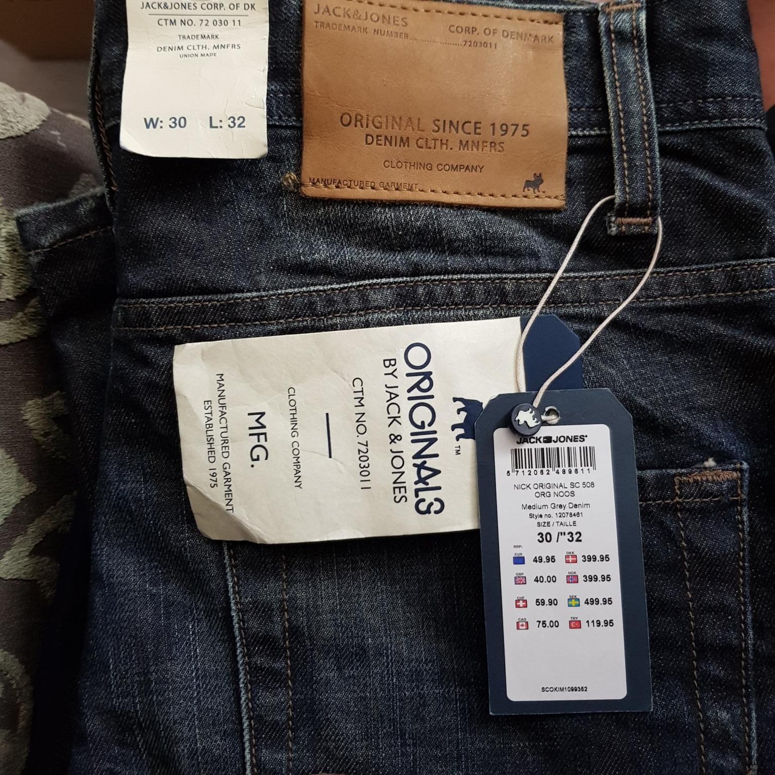 great quality finest selection huge inventory Jack&Jones Jean's size 30W 32L bnwts
