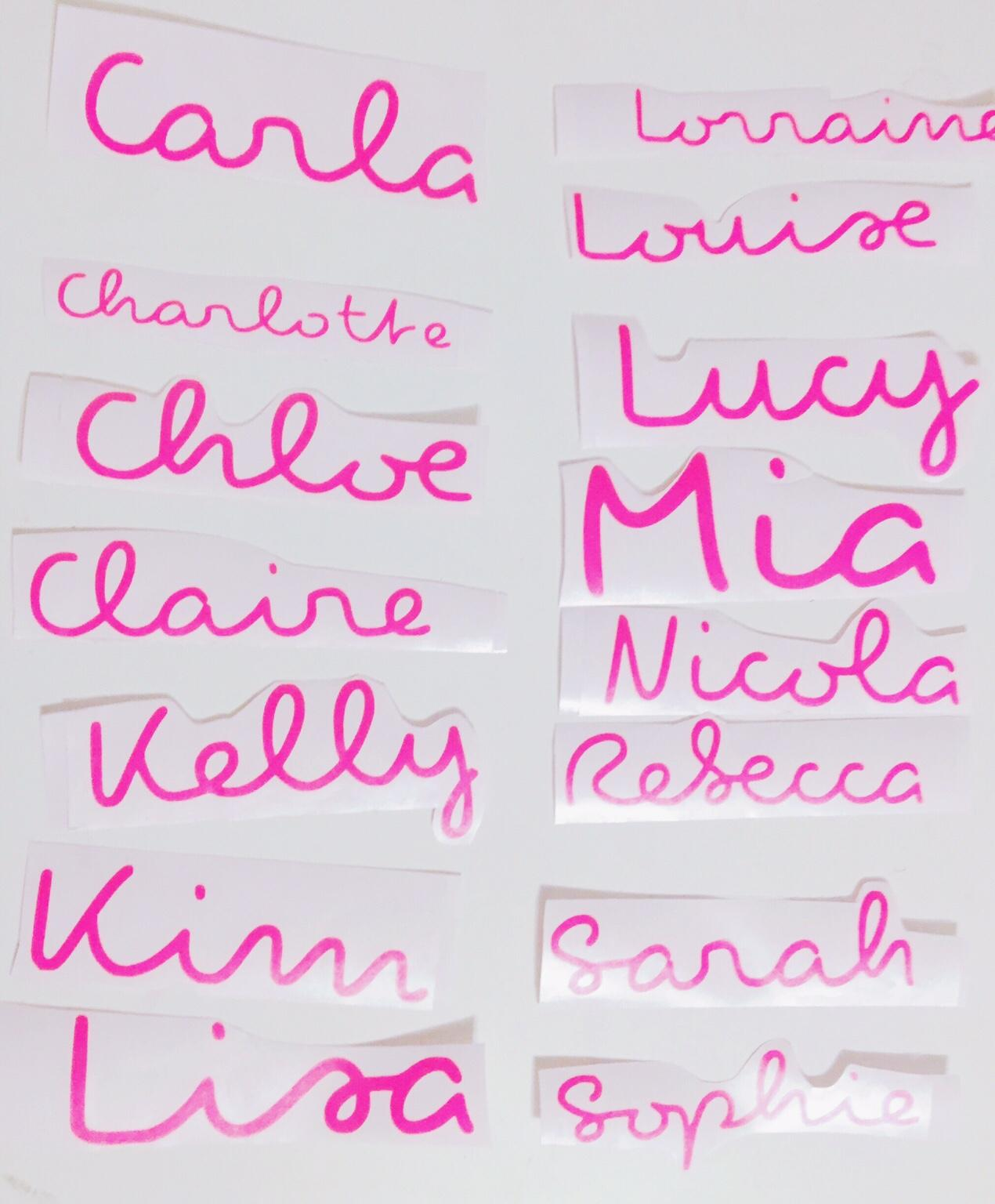 LOVE ISLAND STYLE WATER BOTTLE PERSONALISED NAME STICKER DECAL CHOICE OF COLOURS