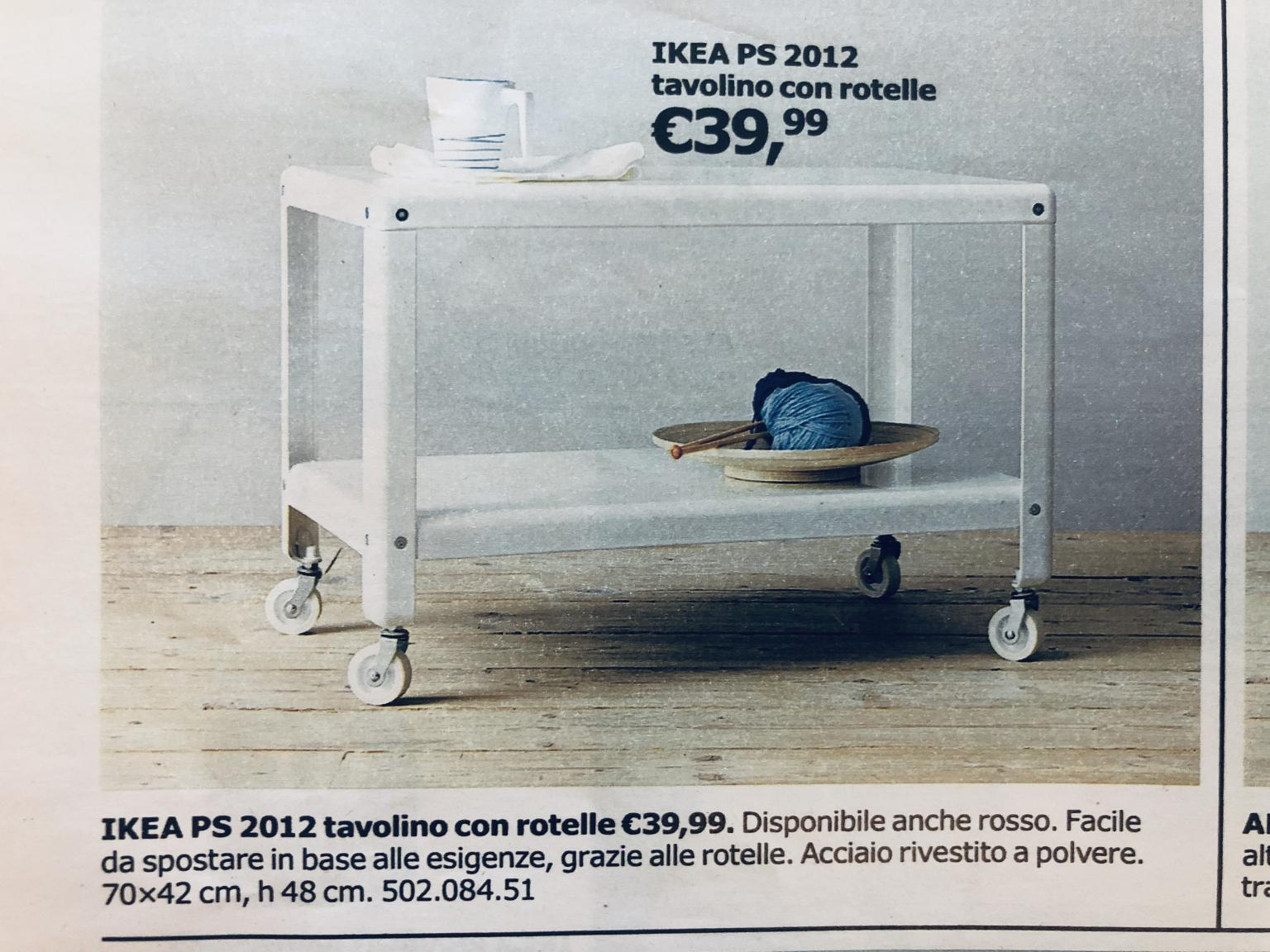 Tavolino Con Rotelle Ikea.Tavolino Con Rotelle Ikea In 20141 Milan For 20 00 For Sale Shpock