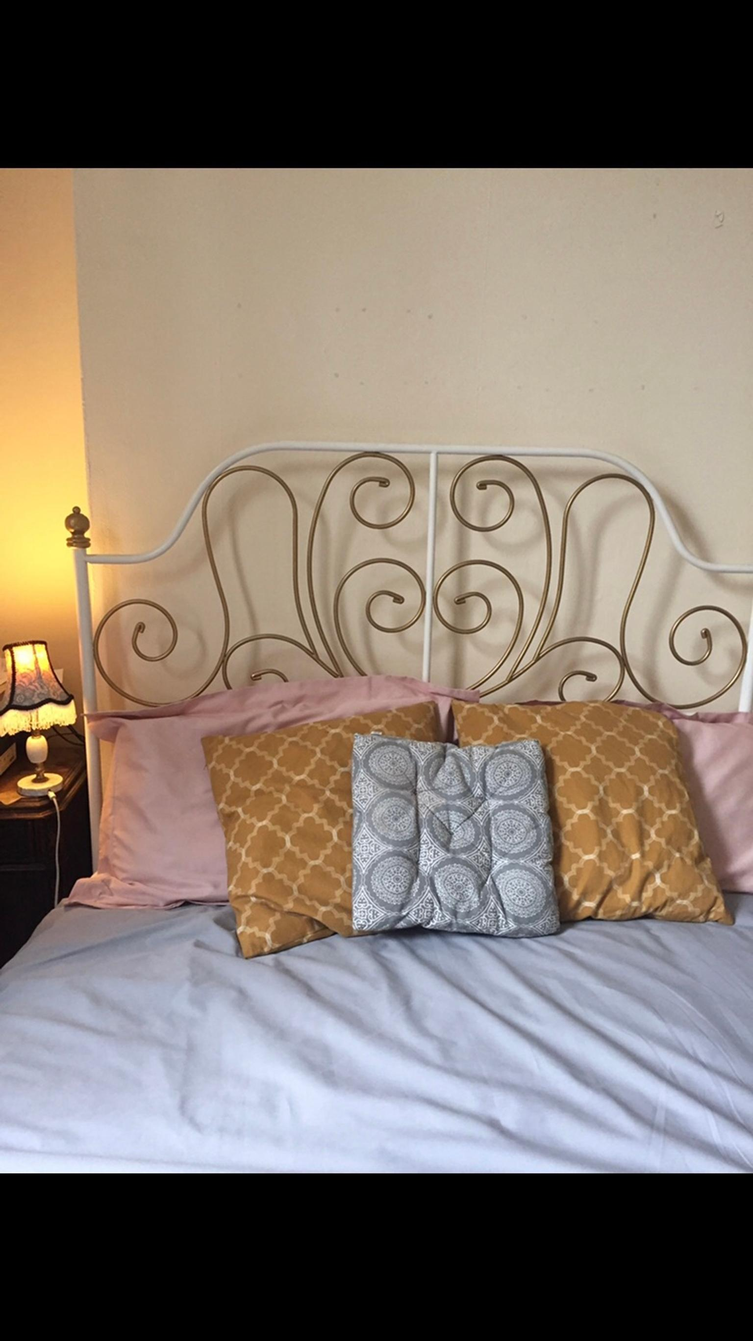 Ikea Leirvik Bed Frame With Gold Leaf Paint In Sw8 Lambeth For 20 00 For Sale Shpock