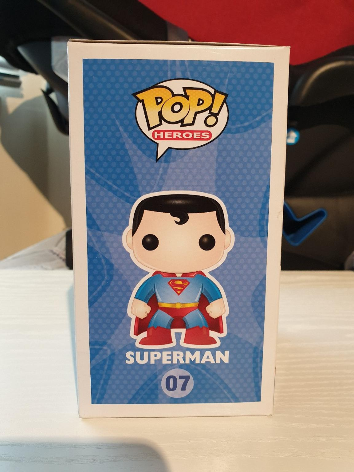 VINYL STICKER INSPIRED BY FUNKO POP SUPERMAN 07 FROM DC UNIVERSE