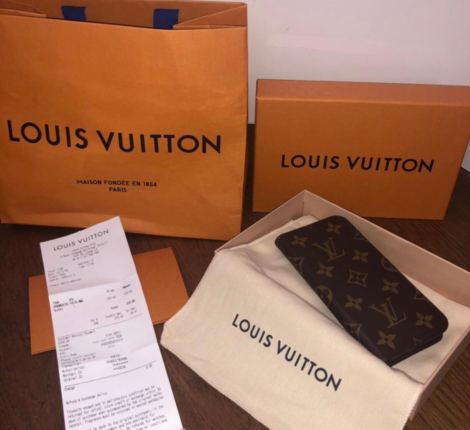 Louis Vuitton IPhone X/Xs Folio Case In KT9 London For £150 00 For