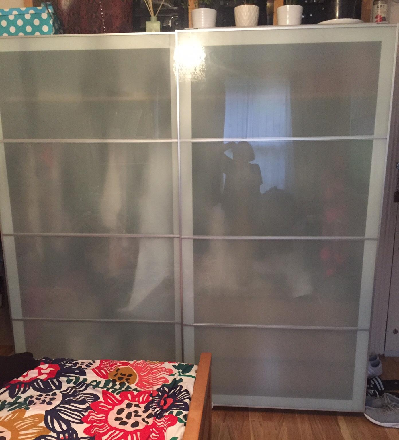 Ikea Pax Wardrobe frosted glass sliding doors #1 for sale