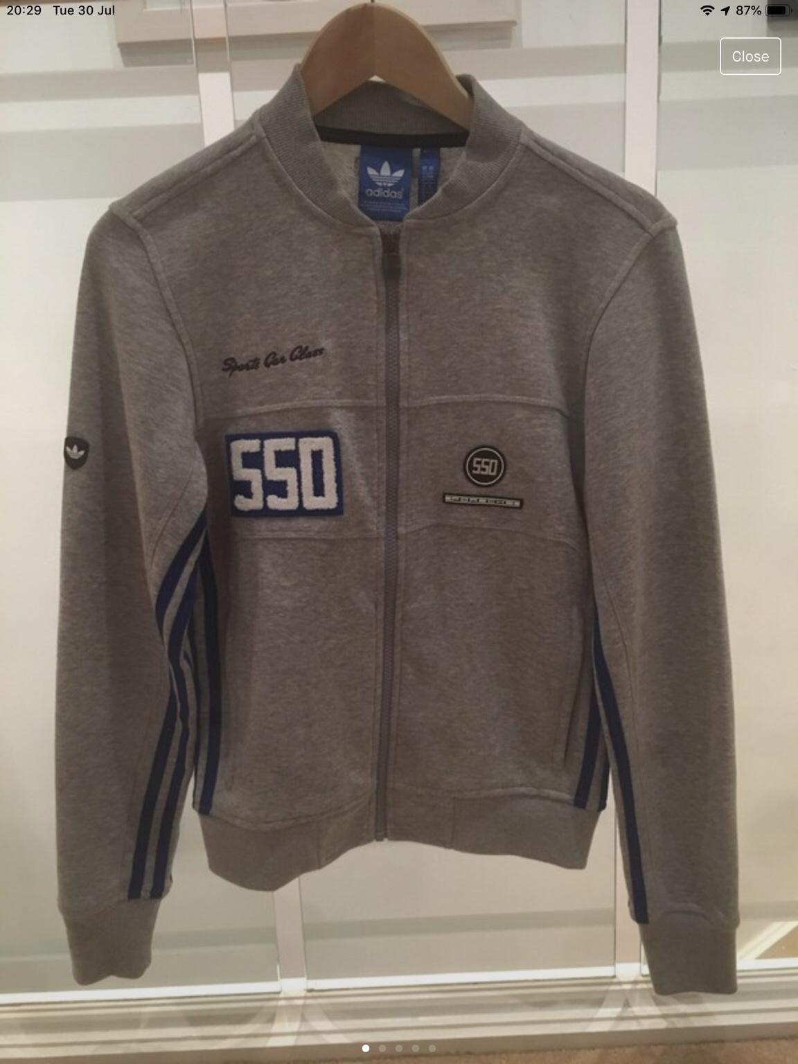 Adidas Adidas Porsche 550 Harrington Navy Blue Jacket Size M