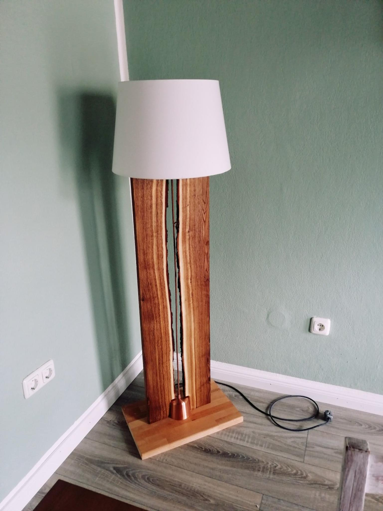 Diy Stehlampe Holz Natur Lampe In 56337 Arzbach For 69 00