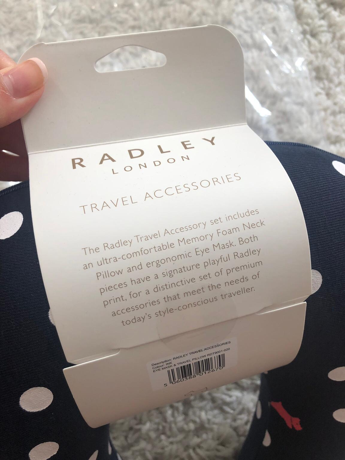 Radley foam neck pillow and eye mask