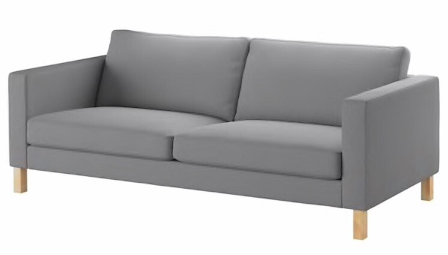 Stupendous Ikea Karlstad 2 Seater Grey Sofa Covers X2 Gmtry Best Dining Table And Chair Ideas Images Gmtryco