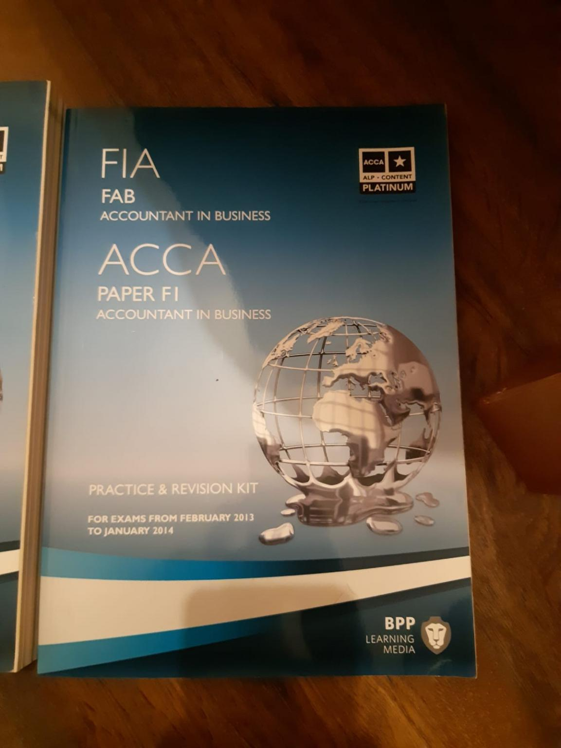 ACCA F1 accounting books