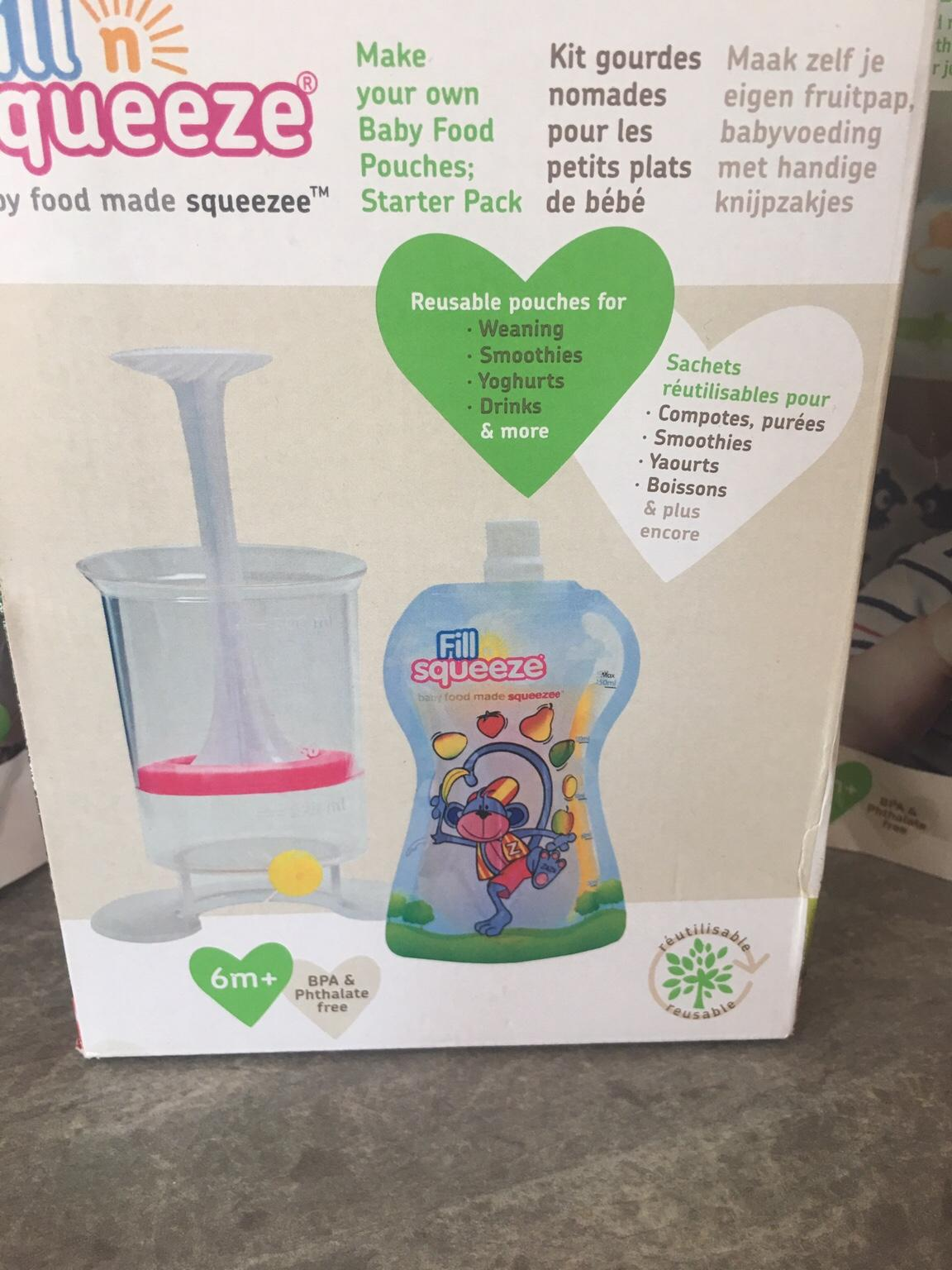 Easy To Use Makes Fo Make your Own Babyfood Squeeze Pouches Baby Food Maker