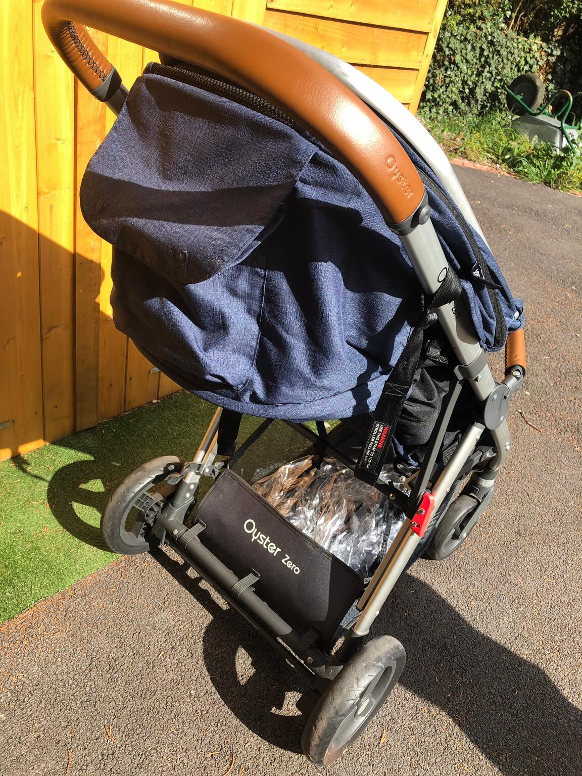 Includes Rain Cover BabyStyle Oyster Zero Pushchair Oxford Blue
