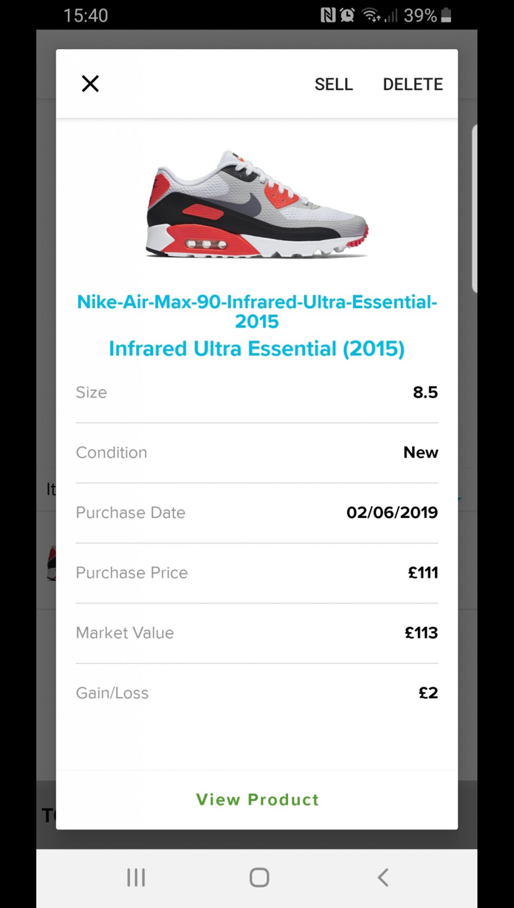 nike air max 90 ultra infrared in LS21 Otley for £50.00 for