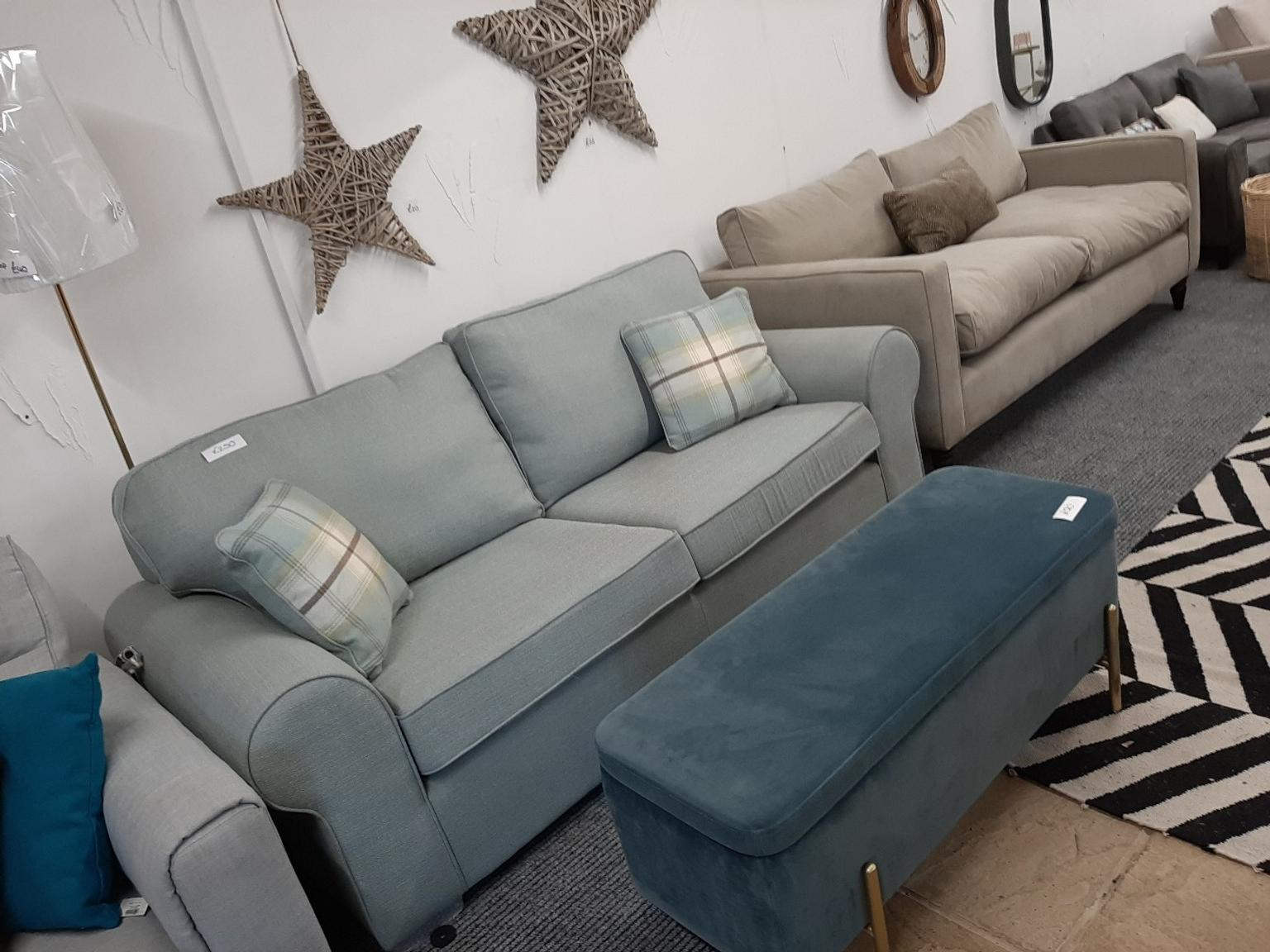 Duck Egg Blue Traditional Style Sofa