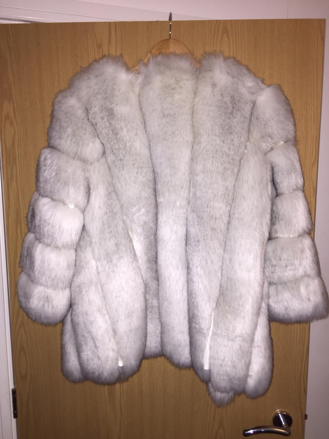 Brand New With Tags JAYLEY Faux Fur Jacket Grey One Size
