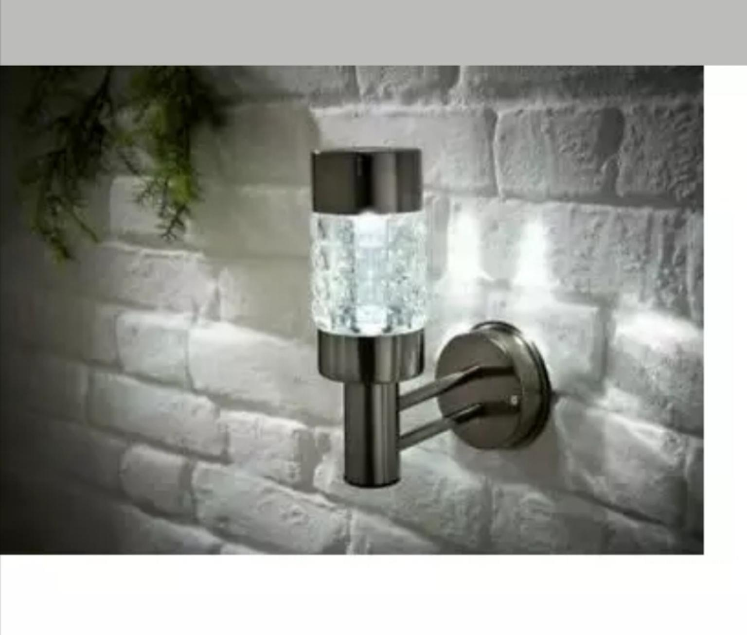 Solar Black Nickel Wall Light