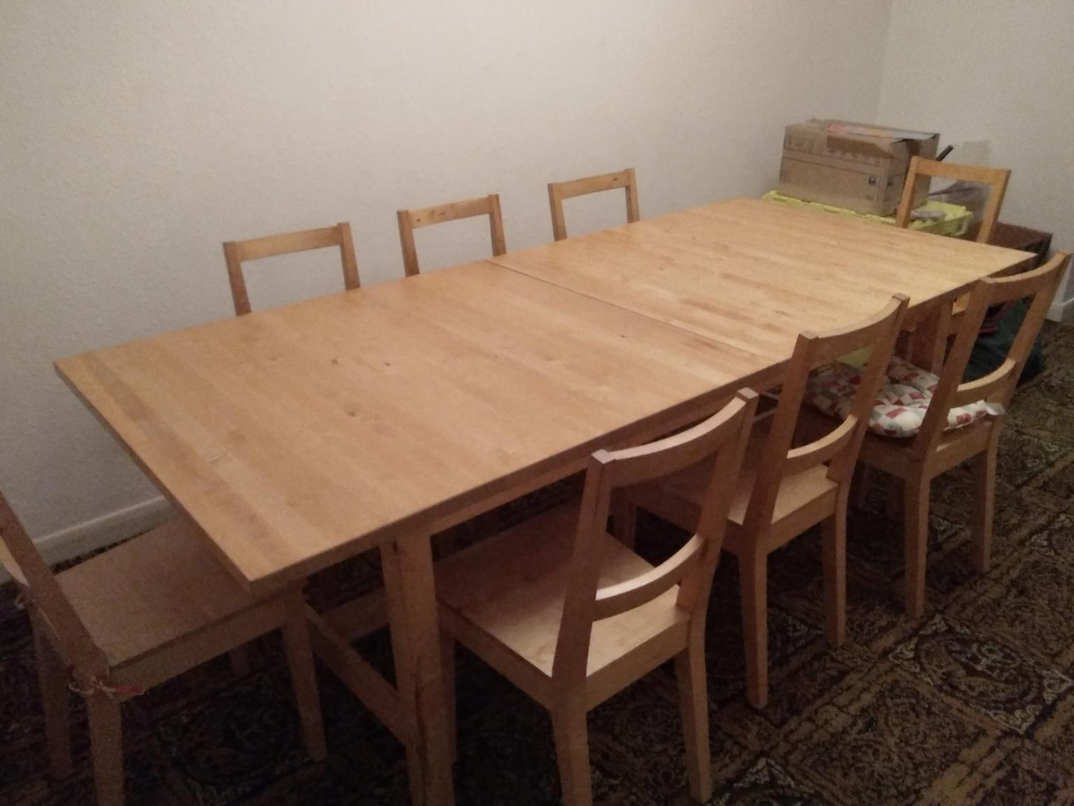 Ikea Birch 8 Seater Dining Table 8 Chairs In Doncaster For 225 00 For Sale Shpock