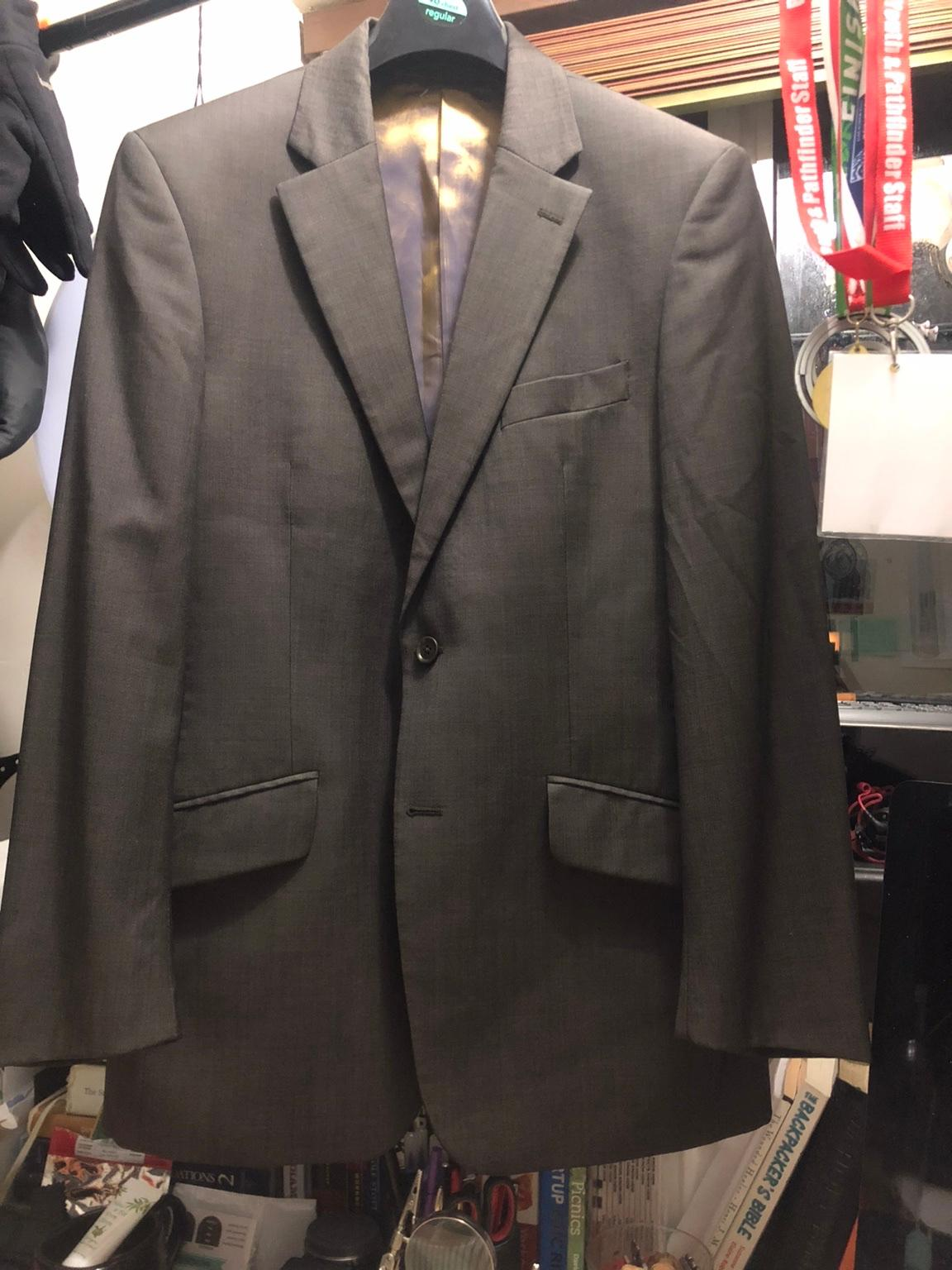 Austin Reed Brown Grey Super 100s Suit 40r36w In Rg30 Reading For 30 00 For Sale Shpock