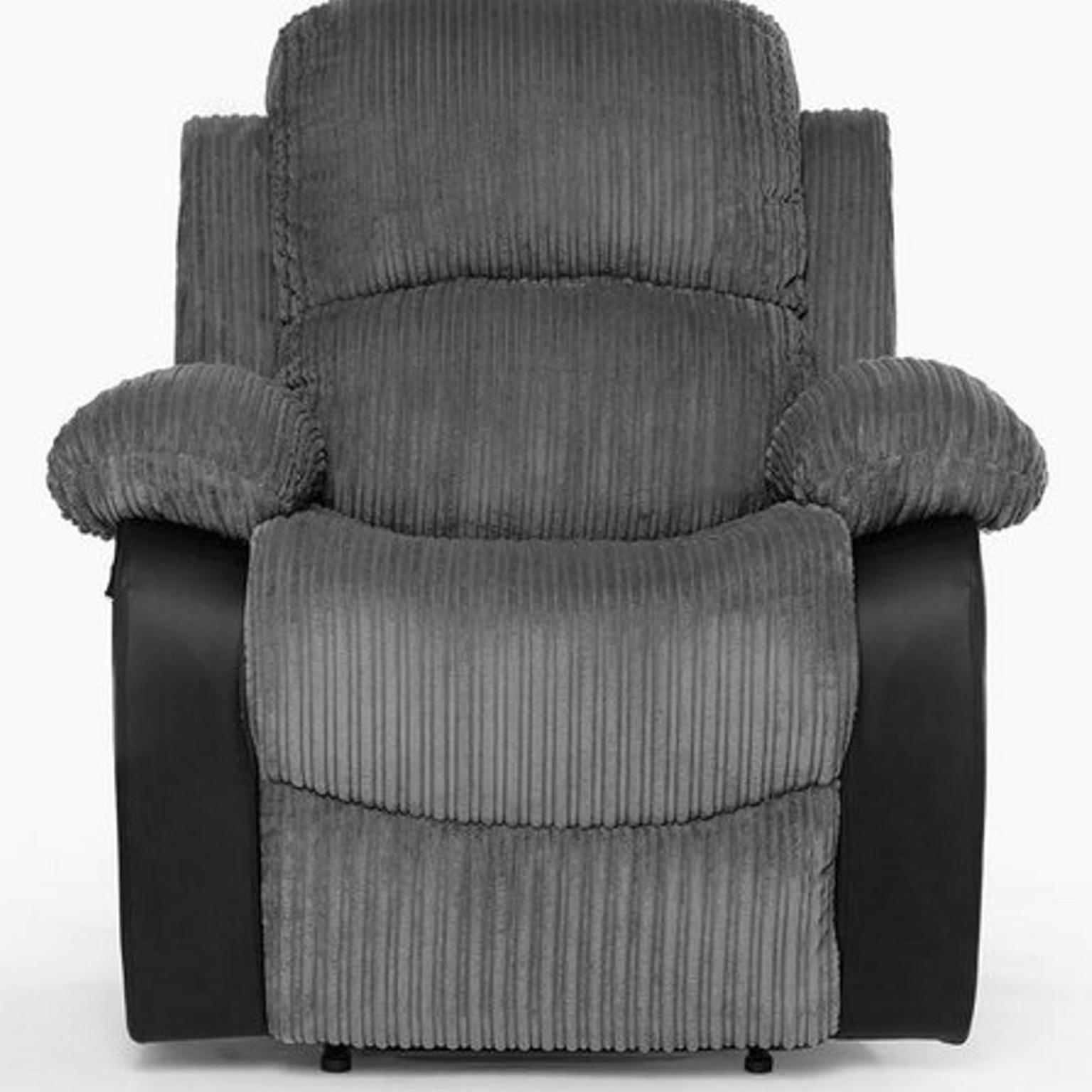 3 + 1 Seater Grey Fabric Recliner Sofa Couch in M350BN ...