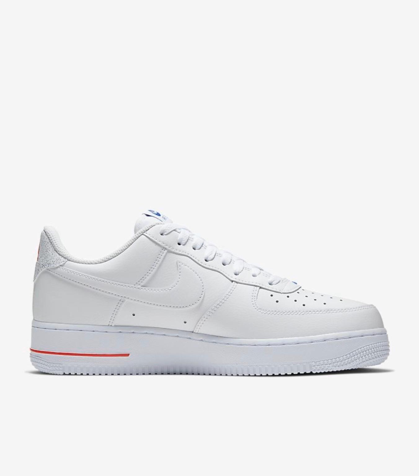 "Nike Air Force 1 Low ""NBA Paris"" WhiteUniversity Red Rush Blue For Sale"