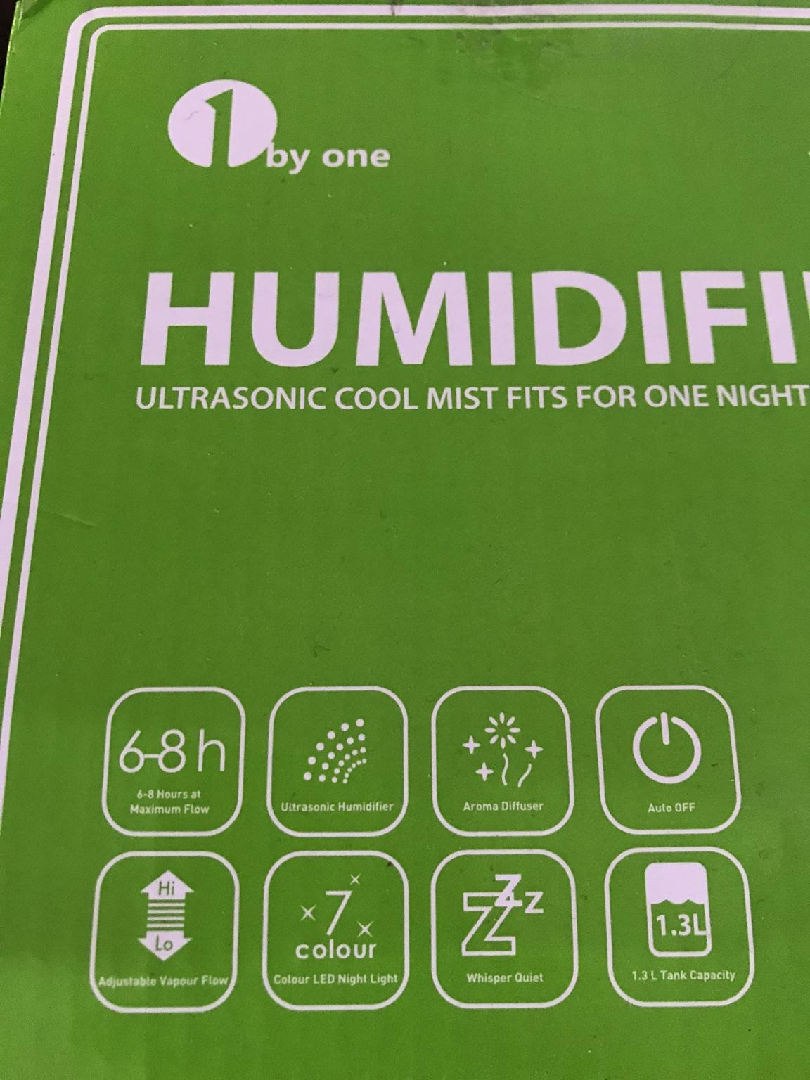 Ultrasonic humidifier 1by one