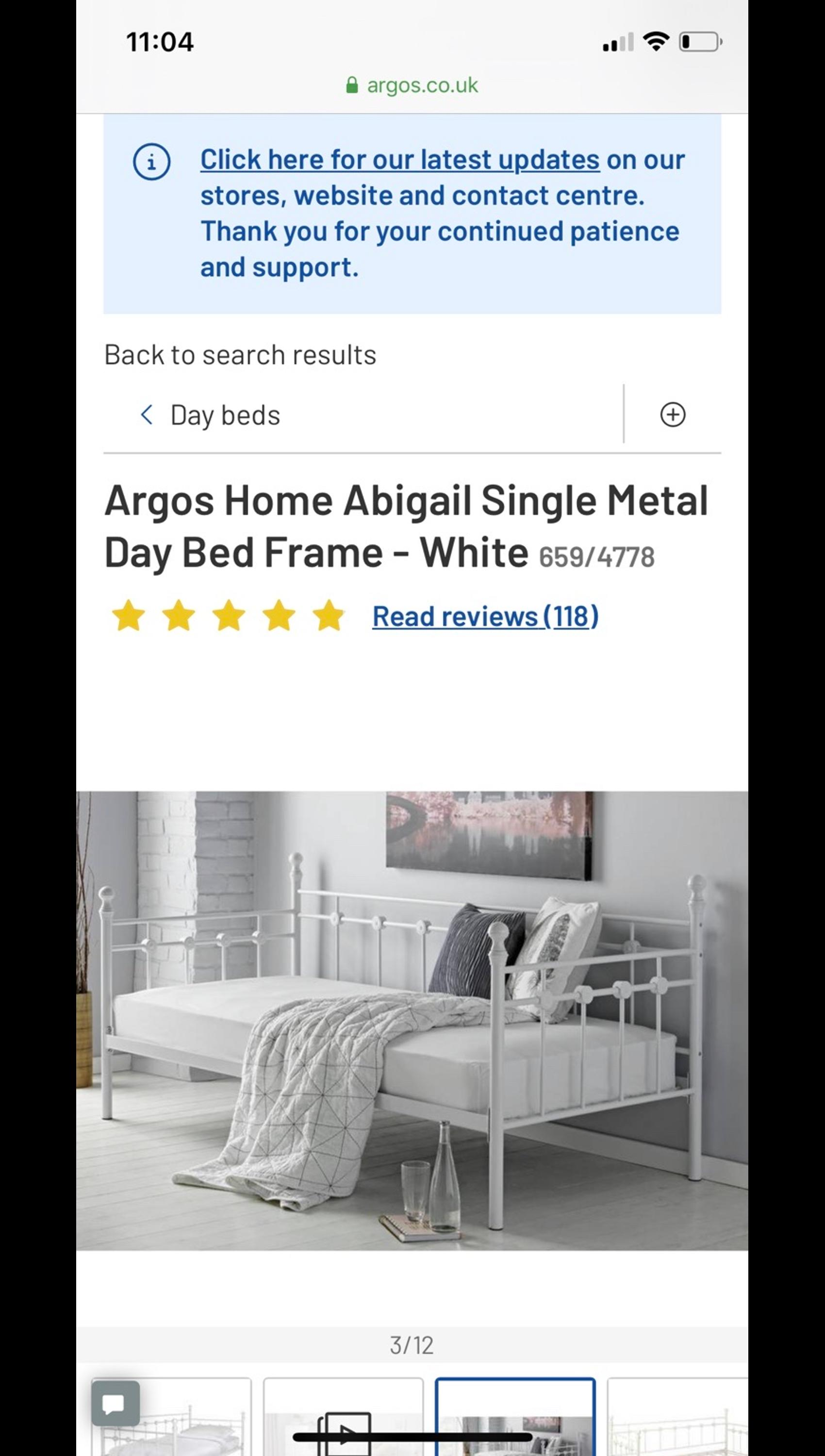Argos Abigail Single Metal Daybed Frame In Sm4 Merton For 100 00 For Sale Shpock