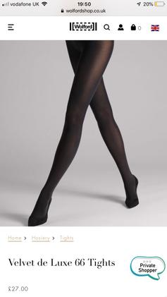 2046c552c9b Wolford individual 10 Stay up. £15.00. Velvet de Luxe 66 Tights - sealed  package