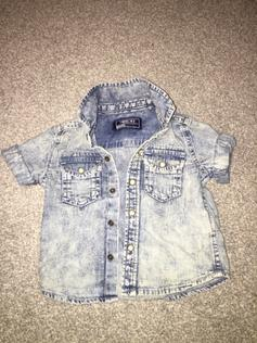 70b6bcb2e27 Baby boys grey denim look shirt 18 24 months. £1.50. Next denim shirt