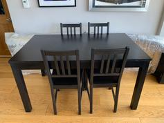 Ikea Extendable Table With 4 Chairs In Nw10 London For 17000 For