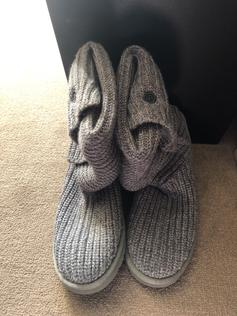 a6b3f9d8a30 Black knitted Ugg boots size 5.5 excellent co in NE9 Gateshead for ...