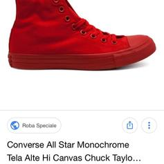 converse rosse donna 37