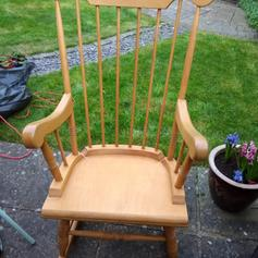 Magnificent Pine Rocking Chair In Brightwalton For 30 00 For Sale Shpock Machost Co Dining Chair Design Ideas Machostcouk