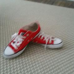 Converse All Star Red Weiß I love in 51063 Cologne for