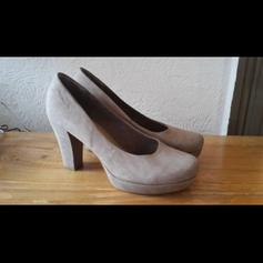 Sling Pumps rosé Gr 39,5 Vintage Wildleder in 12683 Berlin