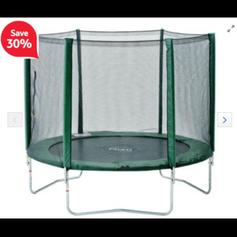 12FT SPORTSPOWER TRAMPOLINE WITH ENCLOSURE in PL26 Treverbyn
