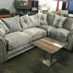 los angeles c0704 026fc Crush velvet corner sofa cuddle swivel chair in M28 Salford ...