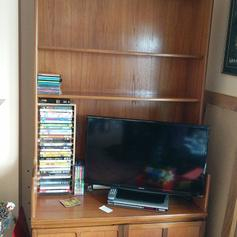 Lge TV unit with Bio Flame fire in S62 Rotherham for £199 00