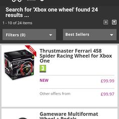 Xbox One Ferrari thrustmaster driving wheel in CH63 Wirral