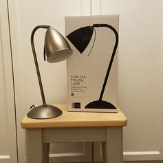 John Lewis Chelsea 3 Stage Touch Task Table Lamp Pewter RRP £45 Brushed Metal